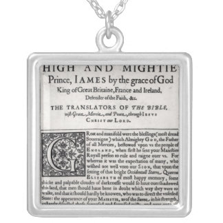Dedication page in The Holy Bible Custom Necklace