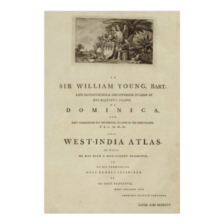Dedication page to The West India atlas Poster