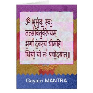 Dedication to GAYATRI Mantra - Artistic Background Greeting Cards
