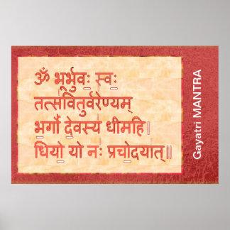 Dedication to GAYATRI Mantra Poster