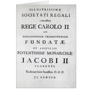 Dedication to the Royal Society Card
