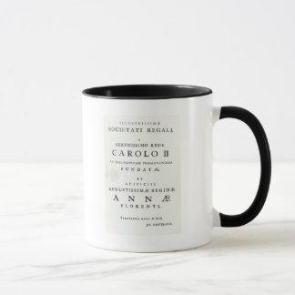 Dedication to the Royal Society Mug