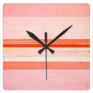 """""""Dedicó"""" arte abstracto rosado Reloj Cuadrado"""