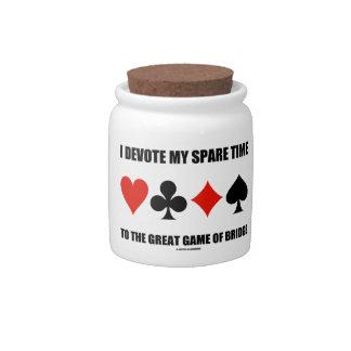 Dedico mi tiempo libre al gran juego del puente jarras para caramelos