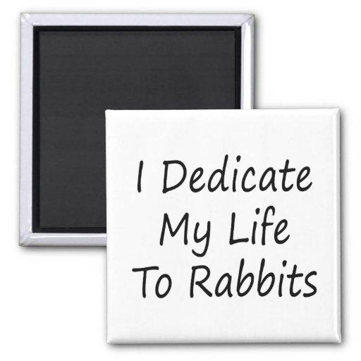 Dedico mi vida a los conejos imanes para frigoríficos