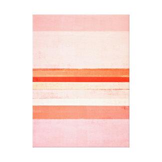 """""""Dedicó"""" rosa y arte abstracto anaranjado Impresion En Lona"""