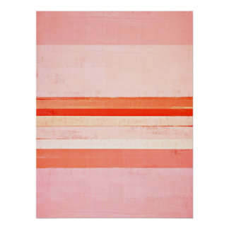 """""""Dedicó"""" rosa y arte abstracto anaranjado Póster"""