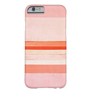 """""""Dedicó"""" rosa y la pintura coralina del arte Funda De iPhone 6 Barely There"""