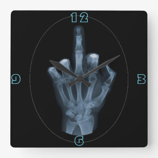 Dedo de la radiografía reloj cuadrado
