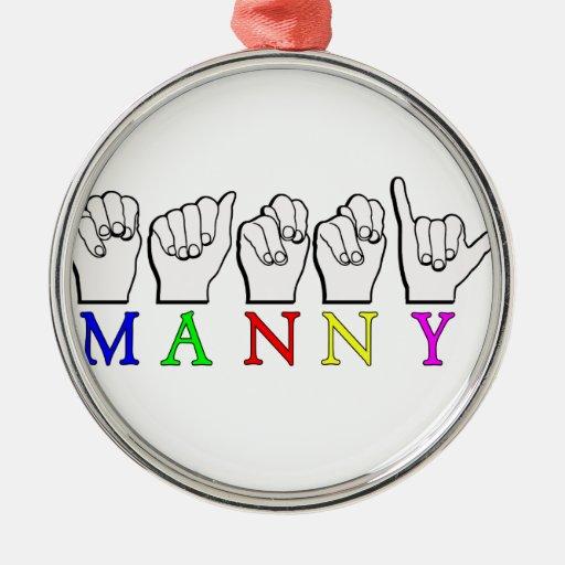 DEDO    DE MANNY ASL DELETREADO ORNAMENTO PARA ARBOL DE NAVIDAD