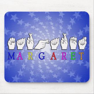 DEDO DE MARGARET ASL DELETREADO TAPETES DE RATON