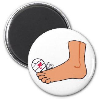 Dedo del pie roto Foot-2 Imán Redondo 5 Cm