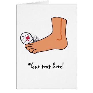 Dedo del pie roto Foot-2 Tarjeta De Felicitación