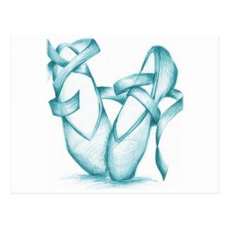 Dedo del pie-Zapatos del trullo Tarjeta Postal