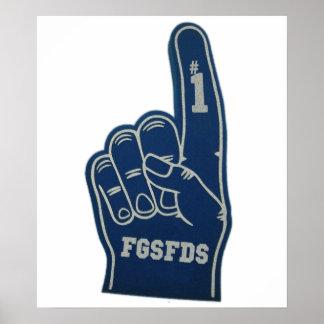 Dedo FGSFDS de la espuma Poster