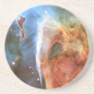 Dedo medio de la nebulosa del ojo de la cerradura  posavasos cerveza