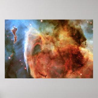 Dedo medio de la nebulosa del ojo de la cerradura póster