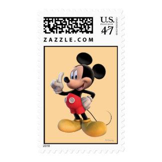 Dedo moderno de Mickey el   para arriba Estampillas