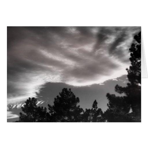 Dedo-pintura en el cielo felicitación