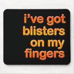 Dedos ampollados tapete de ratón