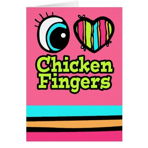 Dedos brillantes del pollo del amor del corazón I