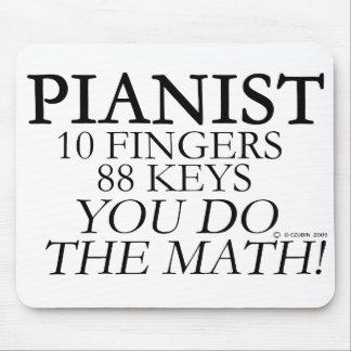 Dedos del pianista 10 88 llaves alfombrilla de raton