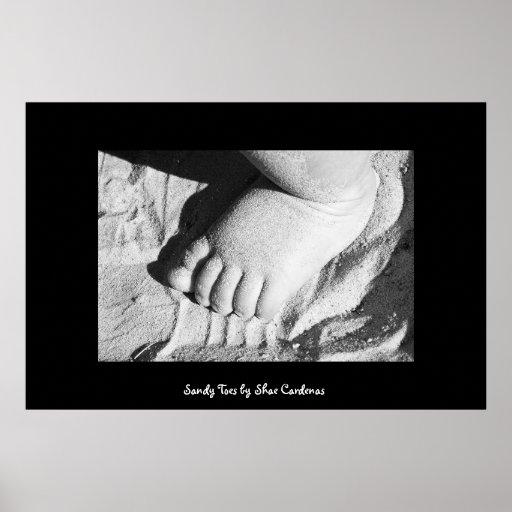 Dedos del pie de Sandy Poster