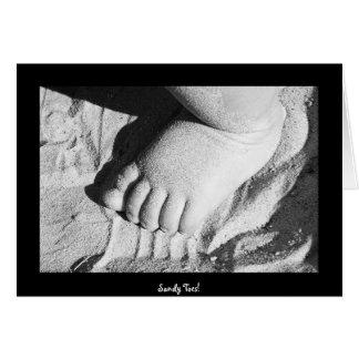 ¡Dedos del pie de Sandy! Tarjeta De Felicitación