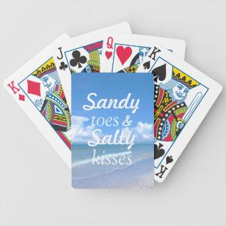 Dedos del pie de Sandy y besos salados Cartas De Juego