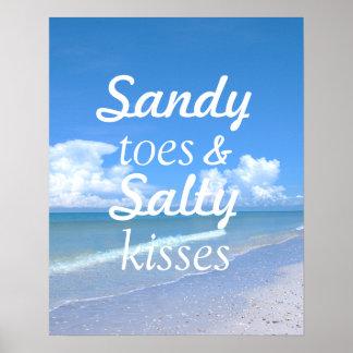 Dedos del pie de Sandy y besos salados Poster