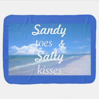 Dedos del pie de Sandy y besos salados Mantita Para Bebé