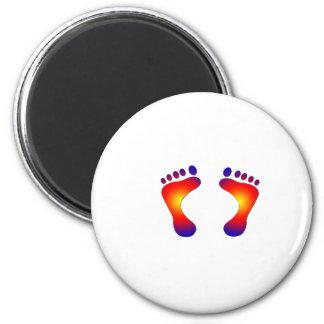 dedos del pie imán redondo 5 cm