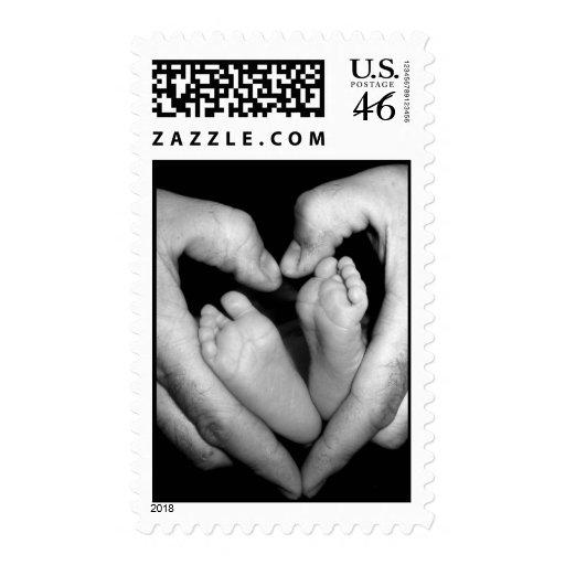 Dedos del pie minúsculos sellos