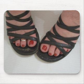 Dedos del pie pulidos bonito tapetes de raton