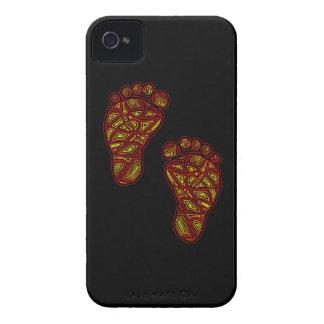 Dedos del pie tribales Case-Mate iPhone 4 cárcasas