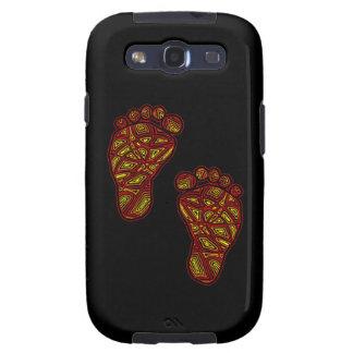 Dedos del pie tribales galaxy s3 carcasa