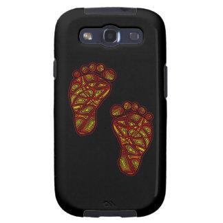 Dedos del pie tribales galaxy s3 protectores