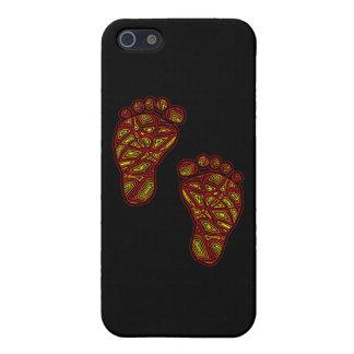 Dedos del pie tribales iPhone 5 carcasa