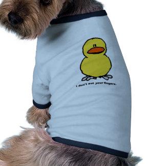 Dedos del pollo - vegetariano camisas de perritos