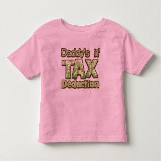 Deducción fiscal de Lil del papá Tshirt