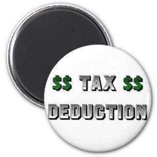 Deducción fiscal imán redondo 5 cm