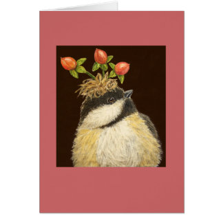 Dee cristalino la tarjeta del chickadee