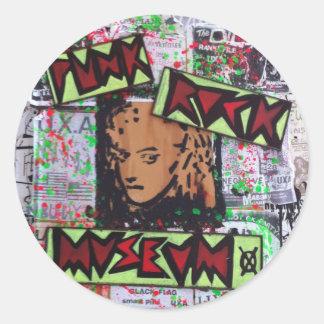 dee detroit uxa tribute punk rock museum by sludge classic round sticker