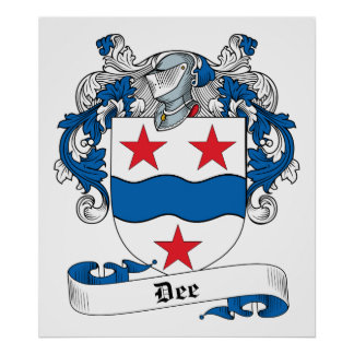 Dee Family Crest Poster