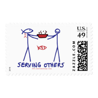 Deed Doer & Anita Deed Serving Others Postage Stamp