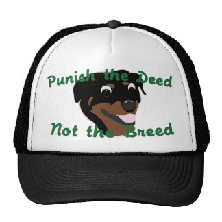 Deed Not Breed Rottweiler Trucker Hat