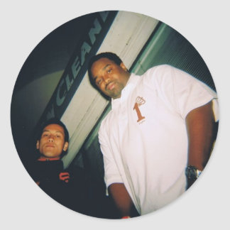 Deedot and Paulie Rhyme - Customized Classic Round Sticker