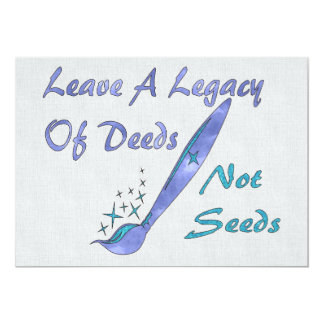 Deeds Not Seeds Card