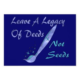 Deeds Not Seeds Invites