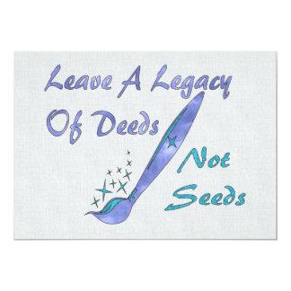 Deeds Not Seeds Announcement